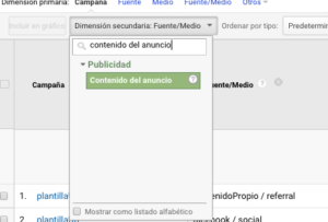 Dónde ver los enlaces etiquetados en Google Analytics