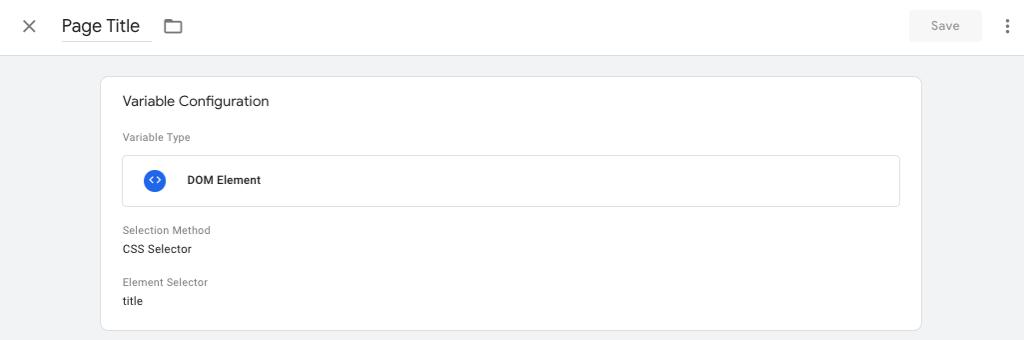 crear una variable que recoja el título de la página