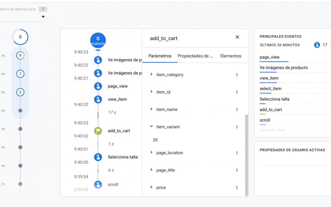 Valida  tus implementaciones de Analytics con el Debugview de GA4